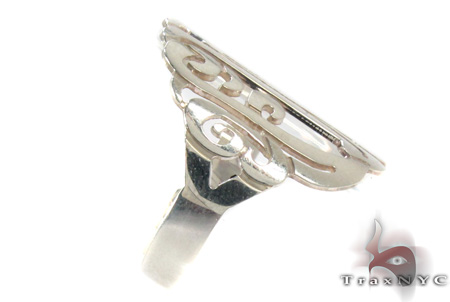 Silver Name Plate Ring 30989 Anniversary/Fashion