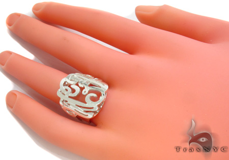 Silver Name Plate Ring 30991 Anniversary/Fashion