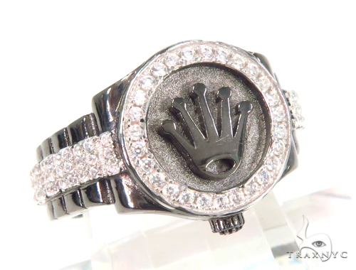 Crown Silver Ring 45091 Metal