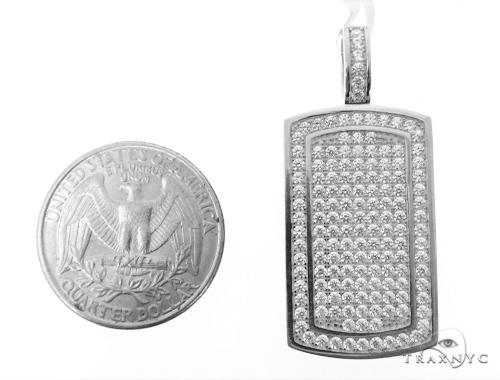 Silver CZ Baby Dog Tag Pendant 48955 Metal
