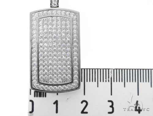 Silver CZ Baby Dog Tag Pendant 48955 Metal