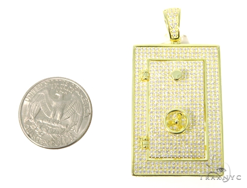 Silver Safe Pendant 48947 Metal