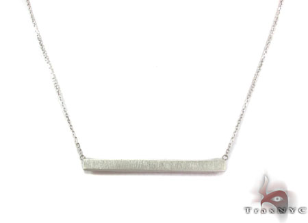 Silver Geometric Necklace Silver