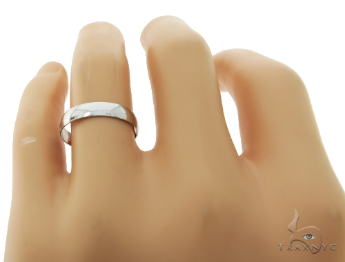 Simple Mens White Gold Wedding Ring Style