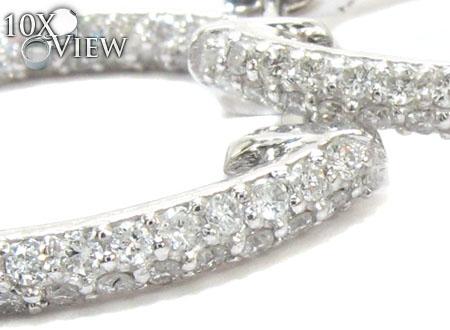 Skinny Diamond Hoops Style