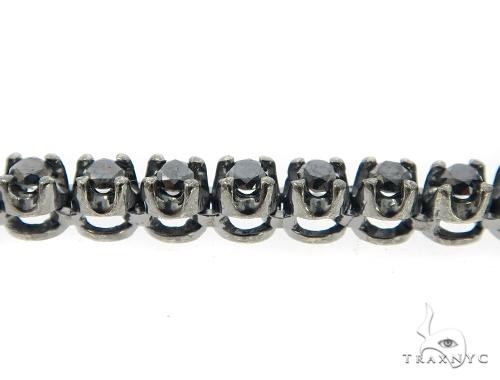 Skull and Cross Black Diamond Pendant Chain 49785 Metal