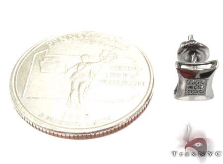 Small Round Cut Micro Pave Black Diamond Earrings 3 Style