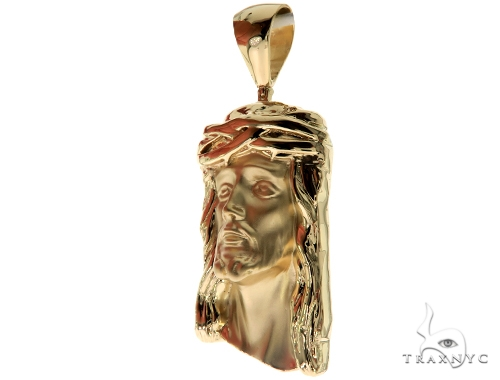 Solid 14K Gold Jesus Pendant 45363 Style
