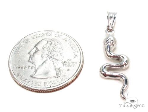 Snake Silver Pendant 36367 Metal