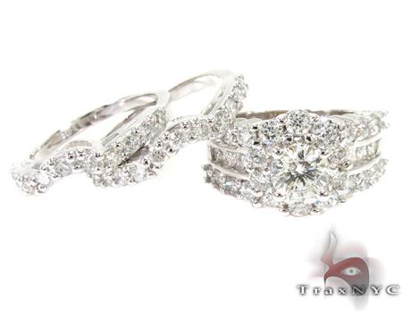 Snow Queen Diamond Wedding Ring Set Engagement