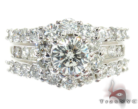 Snow Queen Diamond Wedding Ring Set Engagement