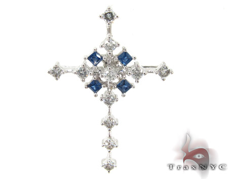 Snowflake Cross Diamond Cross Pendants