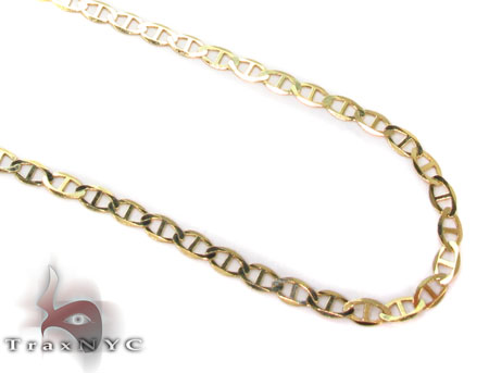 Solid Mariner Chains 24 Inches 2mm 2.25 Grams Gold