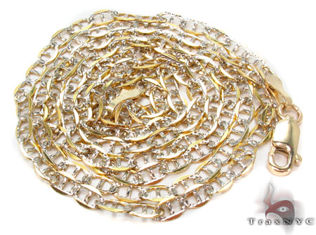 Solid Mariner Diamond Cut Chain 24 Inches 2mm 2.30 Grams Gold