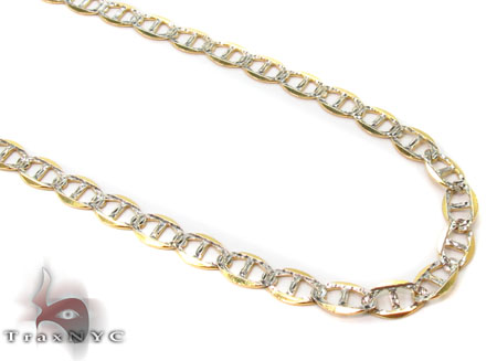 Solid Mariner Diamond Cut Chain 24 Inches 3mm 3.53 Grams Gold Chains