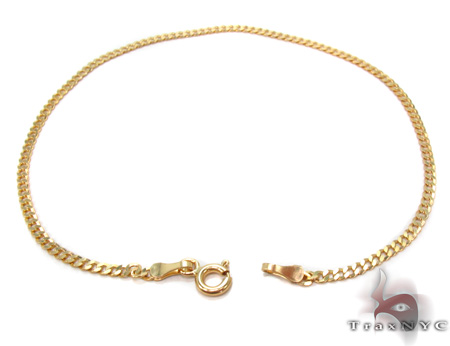 Solid Cuban Bracelet 8 Inches 2mm 1.5 Grams Gold