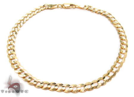 Solid Cuban Bracelet 8 Inches 4mm 2.20 Grams Gold
