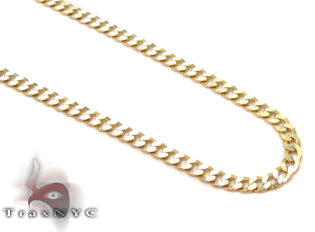 Solid Cuban Chain 24 Inches 2mm 3.9 Grams Gold