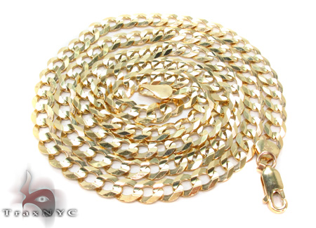 Solid Cuban Chain 26 Inches 6mm 20 Grams Gold