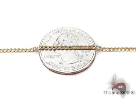 Solid Cuban Diamond Cut Bracelet 8 Inches 2mm 1.3 Grams Gold