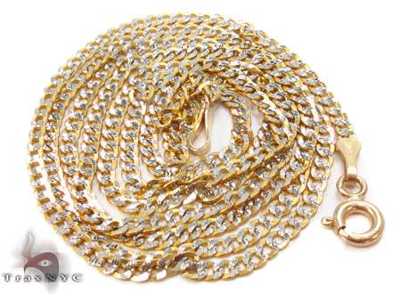 Solid Cuban Diamond Cut Chain 18 Inches 2mm 2.9 Grams Gold