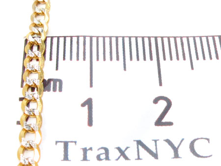 Solid Cuban Diamond Cut Chain 18 Inches 4mm 5.1 Grams Gold