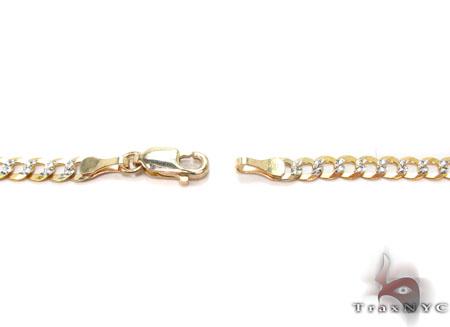Solid Cuban Diamond Cut Chain 18 Inches 4mm 6 Grams Gold