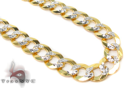 Solid Cuban Diamond Cut Chain 22 Inches 6mm 17.3 Grams Gold Chains