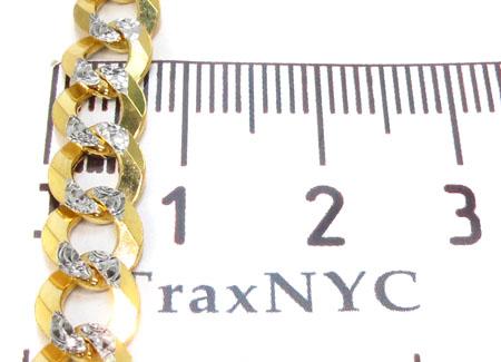 Solid Cuban Diamond Cut Chain 22 Inches 6mm 17.3 Grams Gold