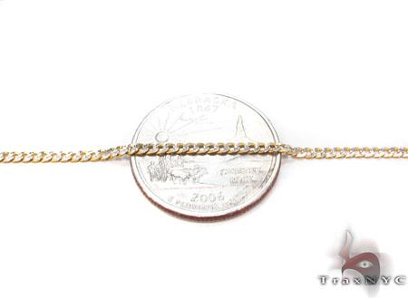Solid Cuban Diamond Cut Chain 24 Inches 2.5 mm 4.5 Grams Gold