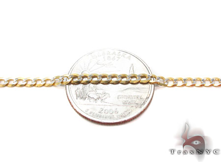 Solid Cuban Diamond Cut Chain 24 Inches 3mm 6.8 Grams Gold