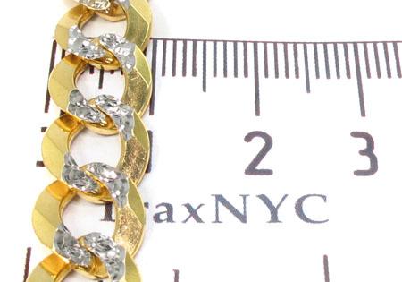 Solid Cuban Diamond Cut Chain 28Inches 10mm 56.5 Grams Gold