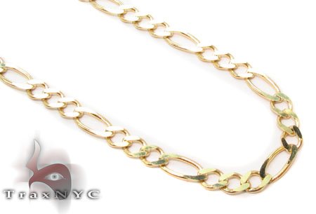 Solid Figaro Chain 22 Inches 2mm 3.08 Grams Gold