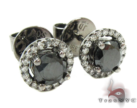 Solitaire Black Diamond Earrings Style