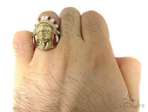 Special Bezel Diamond Indian Ring 45295 Stone