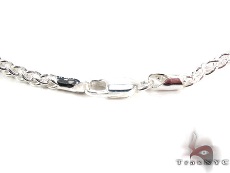 Spiga Silver Chain 22 Inches 4mm 19.5 Grams Silver