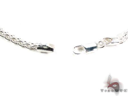 Spiga Silver Chain 22 Inches 4mm 19.5 Grams Silver