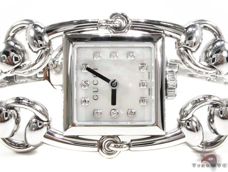 Square 116 Signoria Gucci Watch YA116514 Gucci White Stainless St