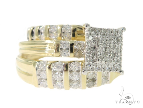 Square Head Diamond Engagement Ring Set 49389 Engagement