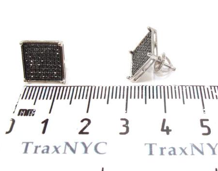 Square Black Diamond Earrings 26041 Stone