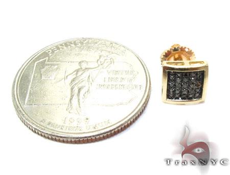 Square Black Diamond Earrings 26047 Stone