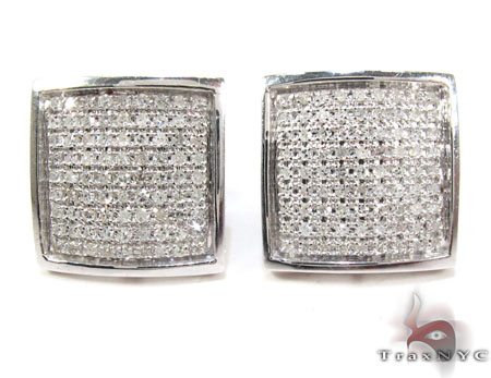Square Diamond Earrings 26043 Stone