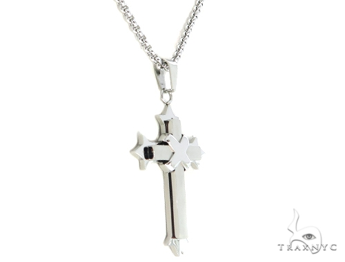 Stainless Steel Cross Chain Set 57590 Stainless Steel