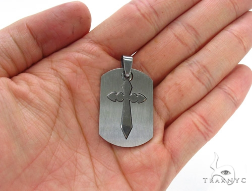 Stainless Steel Cross Pendant 35204 Metal