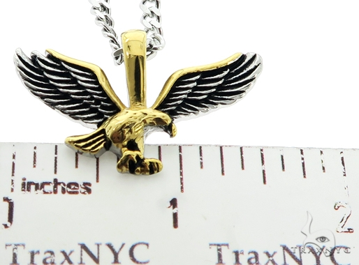 Stainless Steel Eagle Chain Pendant Set 57425 Metal