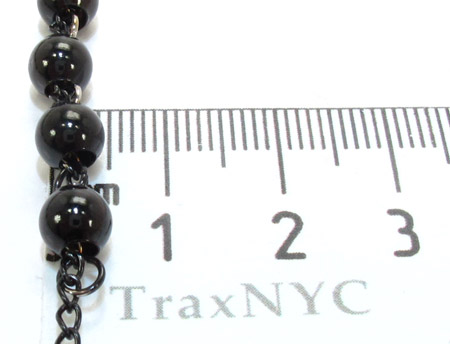 Stainless Steel Rosary 36 Inches 5mm 46.6 Grams Stainless Steel