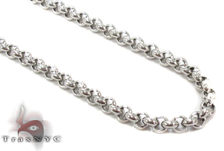 Stainless Steel Rosary n 24 Inches 3mm 23.40 Grams Stainless Steel