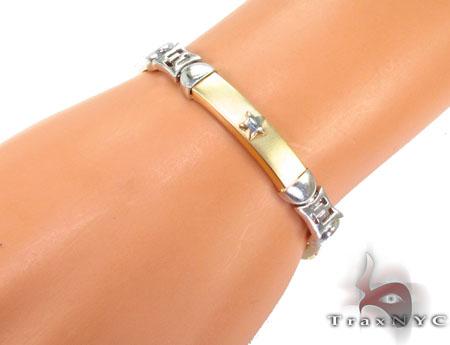 14K Two Tone Gold Star Two Tone Gold Bracelet Gold
