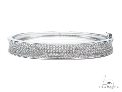 Sterling Silver Bangle Bracelet 41206 Silver & Stainless Steel