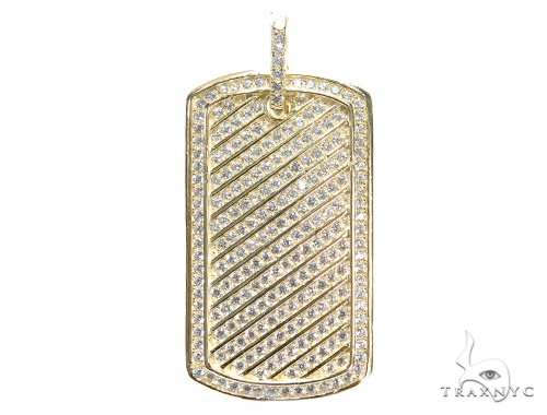 Sterling Silver Dog Tag Pendant 42861 Metal